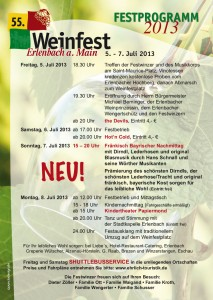 Festprogramm Weinfest 2013