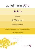 Empfohlen im Eichelmann WeinGuide Deutschland 2015