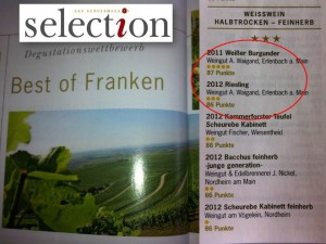 selection Degustationswettbewerb best of Franken 2013